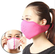 Outdoor winter warmer Ski cycling Fleece wind protection half face mask Pink