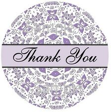 THANK YOU STICKERS ~ BUTTERFLY SWIRLS #93 ~ 1 INCH STICKER SEAL LABELS
