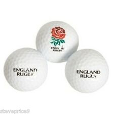 3 ENGLAND RUGBY UNION CRESTED GOLF BALLS.
