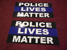 POLICE LIVES MATTER  DECAL/STICKER support ( SET OF 2 )