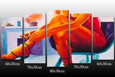 DEKOART KUNSTDRUCK DESIGN WANDBILD ABSTRAKT EROTIK LEINWAND BILD 150cm/80cm