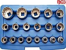 """BGS 2152 19-tlg Satz 1/2"""" Universal Steckschlüssel-Einsatz Nuss Torx Sechskant"""