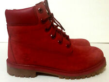 Timberland 6 inch Premium Red Boots Boys Size 5/Womens 6.5