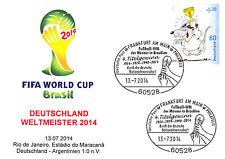Deutschland Fußball Weltmeister 2014 WM Sonder-Brief Frankfurt