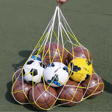 10 Balls Sport Basketball Soccer Nylon Carry Mesh Net Bag-Holds Netting 115cm