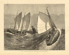 "Lifesaving, Rescue, ""Our Seamen"" - Trial Of The New Life & Surf Boats 1874 Print"