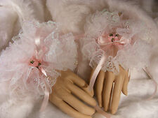 SISSY ADULT BABY SEXY PINK TULLE & LACE WRIST CUFF, TV,CD,FANCY DRESS,LOLITTA