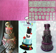Claire BowmaN Cake Lace The Day of The Dead 3D Silicone Mat Skulls Gothic Hearts