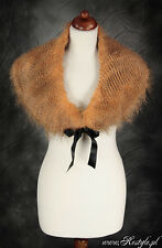 Gothic Victorian Steampunk Fake Fur Shrug Cape Wrap Vintage Retro 50s