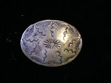 SIGNED VINTAGE NAVAJO STERLING SILVER CONCHO BUTTON