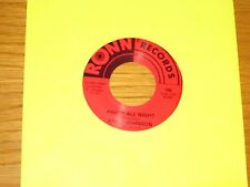 "SOUL 45 RPM - ERNIE JOHNSON - RONN 109 - ""PARTY ALL NIGHT"" + ""COLD WOMAN"""