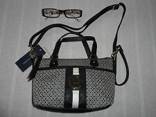 NEW FABULOUS  BLACK LOGO TOMMY HILFIGER  CROSSBODY MINI TOTE HANDBAG RRP $79