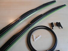 "HYMER DUCATO MERCEDES +many Motorhome Hybrid Wiper Blades 26""x26""+Washer Jets"