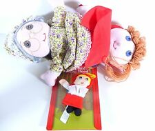 NEW LITTLE RED RIDING HOOD GRANDMA BAD WOOF HAND PUPPET DOLL CUTE!!