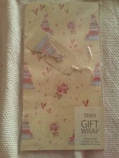 wedding gift wrap, 1 large sheet wrapping paper, 1 tag. bnip. more available.