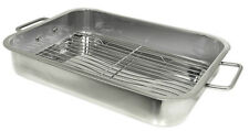 Prime Pacific Stainless Steel  Roasting Lasagna Pan 16 x 12  with Removable Rack
