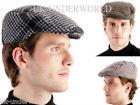 ADULTS MENS 50% WOOL TWEED HERRINGBONE PEAK FLAT CAP COUNTRY HAT SIZES 58-60 CMS