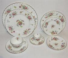 Service for 4 Minton China Marlow Pattern 9 Piece Place Setting Old Globe Stamp