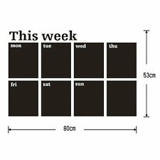 Calendar Blackboard Removable Wall Sticker Chalk Board Decal T1