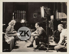 JEAN HARLOW Saratoga CAMERA Ray JUNE Behind scenes Tournage CONWAY Photo 1937