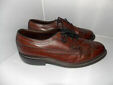 Crown Imperial WING TIP Leather Oxfords Brown 10.5 EEE Used No Box Mens