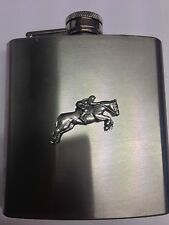 Eventing PP-E04 Horse english pewter 6oz Stainless Steel Hip Flask