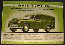 1950-1951 Commer 8 CWT Van Sales Brochure Folder Original