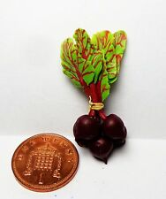 1:12 Scale Bunch Of Beetroot Dolls House Miniature Vegetable Kitchen Accessory