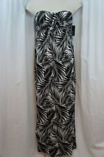 Kenneth Cole Reaction Swim Cover Sz L Black Rayon Jersey Maxi Dress Cover Up