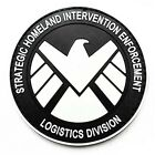 THE AVENGERS Movie S.H.I.E.L.D logo PVC 3D Rubber Velcro PATCH Glow In The Dark