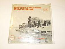 """BRUITS ET AMBIANCES D'AFRIQUE N.1 EP 7"""" OCORA France RARO SIGILLATO SEALED"""