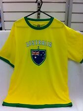 Socceroos Supporter T-Shirt Australia Aussie Shirt Football Aussies Medium New