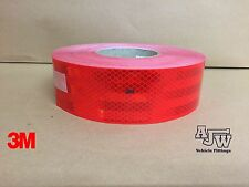 10m x 55mm RED Conspicuity Tape ECE104 Diamond Reflective 3M Truck Lorry