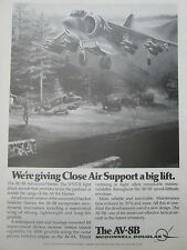 7/1977 PUB MCDONNELL DOUGLAS AV-8B ADVANCED HARRIER US ARMY JEEP ORIGINAL AD