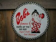 Bob's Big Boy PORCELAIN Overlay Sign