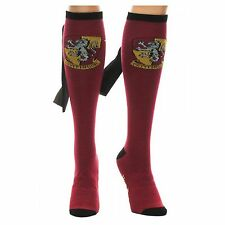 Harry Potter Women's Gryffindor Caped Knee High Sock - One Size