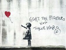 A4 BANKSY ART PHOTO PRINT FOR 99P (DISMALAND FIGHT THE FIGHTERS)..