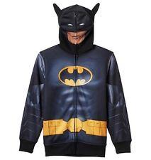 BATMAN Hoodie Jacket Teen Boy's size 18/20 NeW Costume Zip-Up Mask DC Comics
