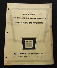 GENUINE 1960 OLIVER 950 990 995 TRACTOR PARTS CATALOG MANUAL CHARLES CITY IA