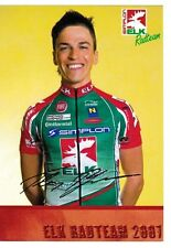 CYCLISME carte cycliste THOMAS ROHREGGER équipe ELK RADTEAM 2007