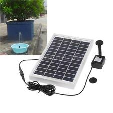 Solar Power Fountain Pond Water Pump Brushless 29x25cm Square 380L/H 12V 5W dl
