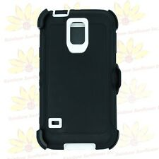 For Samsung Galaxy S5 Case Cover (Belt Clip fits Defender series) w/ Screen