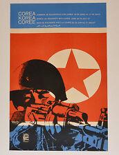 1968 Original Cuban Poster.Cold War.North Korea.Kim Il-Sung art.Corea flag