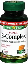 Nature's Bounty Super B Complex With Folic Acid Plus Vitamin C Tablets 150