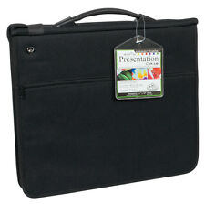 A3 CUSHIONED RING BINDER ARTIST STORAGE PORTFOLIO CASE & 3 ACID FREE SLEEVES