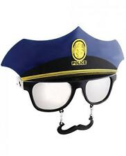 Police Officer Cop Sunglasses Eye Glasses Funny Mask Gag Gift Men SunStaches