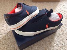 New Men's POLO RALPH LAUREN Vaughn Matte Ripstop Sneaker Shoes Navy Size 8.5