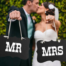 Mr and Mrs Photo Props,Chair Signs Banner ,Wedding Decorations,Bride&bridegroom