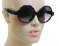 Oversized Huge Big Circle Round Octagon Black Designer Women Fashion Sunglasses