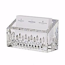 Waterford Lismore Essence Business Card Holder Crystal Desk Collection New
